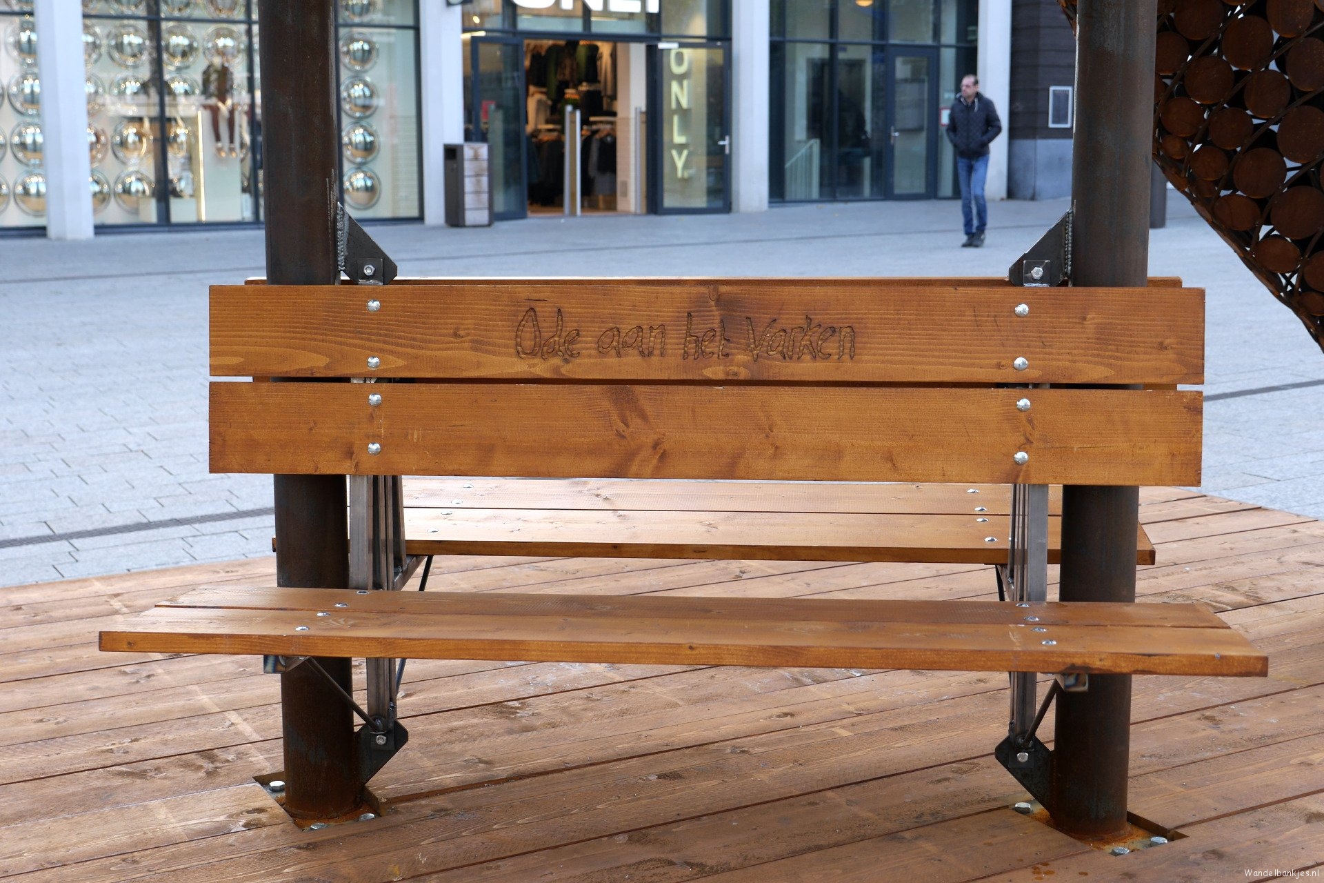 rt-arthurskm-inscription-on-the-benches-under-the-temporary-pig-in-nijmegen-on-square-1944-walking benches-walkersbenches-https-t-co-f